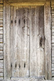Old door in abandoned house Stock Photography