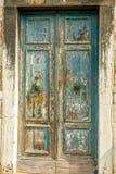 Old door. Ancient looking door to ancient chapel in Venice stock photo