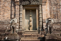 Old door at Angkor Wat, Cambodia Stock Photo