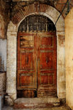Old door with arch textured Royalty Free Stock Image