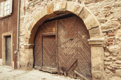 Old door in the architecture of the city Sopron, Hungary Royalty Free Stock Images