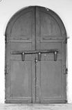 Old door in asian style Royalty Free Stock Image