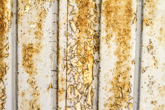 Old door background. Old peel off and oxidize metallic door background Stock Photography
