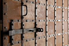Old door with bar. Stock Image