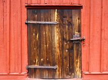 The old door. Door at an old barn Royalty Free Stock Photos