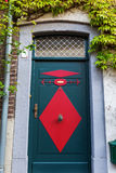 Old door in Bedburg Alt-Kaster, Germany Stock Image
