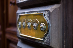 Old door bell. Traditional door bell on Florence Stock Photography