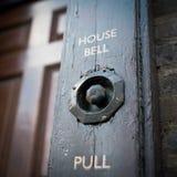 Old door bell. Traditional door bell in London Stock Image
