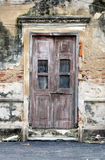 Old door of brick building Stock Image