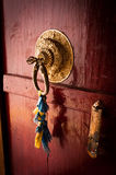 Old door at Buddhist monastery temple. India Stock Photo