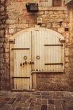 Old door in Budva Stock Images