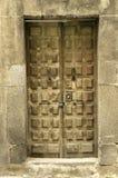 Old door of a building stock photos