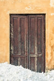 Old brown door Stock Photo