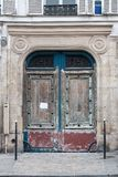 Old door in the center of Paris royalty free stock image