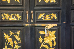Old door china style Royalty Free Stock Images