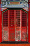 The old door of Chinese temple at Taichung, Taiwan Stock Photo