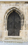 Old door at the church in freyburg Royalty Free Stock Photos
