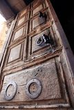 Old door church of the Holy Sepulche Stock Photo