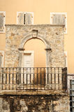 Old door on the citadel of Budva Royalty Free Stock Images