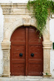Old door in city of Rethymno Stock Photography