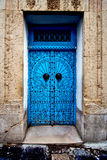 old door in the city of tunisi Stock Photo