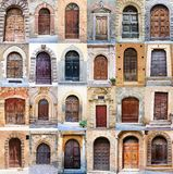 Old door collage Royalty Free Stock Photography