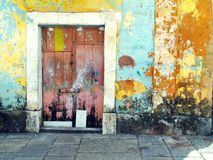 Old door color stock images