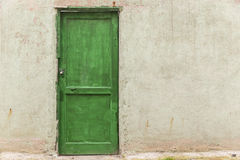 Old door in the courtyard of the house Royalty Free Stock Photos