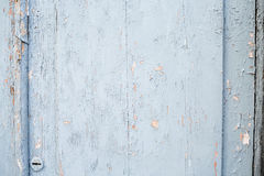 Old door. Cracked blue paint Royalty Free Stock Images