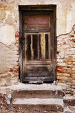Old Door with Cracked Paint Background Royalty Free Stock Photos
