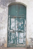 The Old Door with Cracked Paint Background Stock Photo