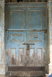 The Old Door with Cracked Paint Background Stock Photos