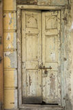 The Old Door with Cracked Paint Background Royalty Free Stock Photography