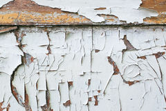 Old door with cracked paint stock image