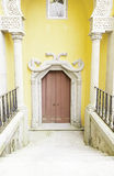 Old door decorated in Sintra Stock Photography