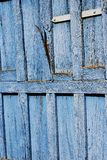 Old door detail. Old blue door Royalty Free Stock Photo