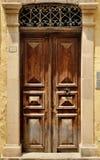 Old door facade in city of Rethymno Stock Photo