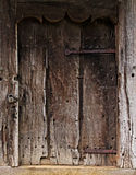 Old door of a farmhouse Stock Photo