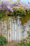 Old door in garden Royalty Free Stock Image