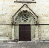 Old door in the Gothic style royalty free stock photo