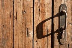 Old door handle. Close up Stock Photo