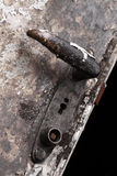 Old door handle. Old rustic metal door handle Royalty Free Stock Image