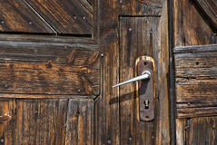 Old door with handle Royalty Free Stock Photos