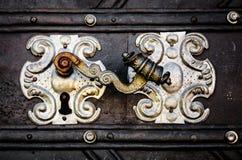 Old door handle Royalty Free Stock Photo