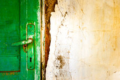 Old door handle detail Royalty Free Stock Images