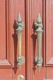 Old door handle. An image of old vintage door handles on a door Royalty Free Stock Photography