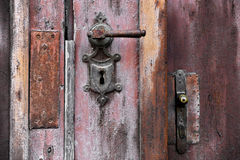 Old Door Handle And Lock Stock Photography