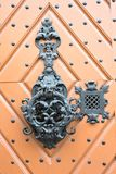 Old door handle. From the Cathedral at Viborg, Denmark Stock Image