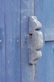 Old Door handle with an old wood door Stock Photos