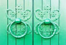Old Door handles stock image